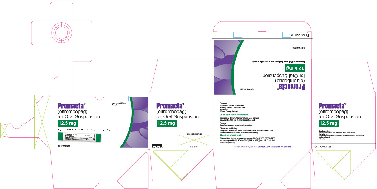Promacta for Oral Suspension 12.5 mg 30 packets outer carton