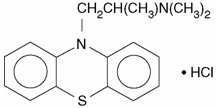This is an image of the structural formula of Promethazine.