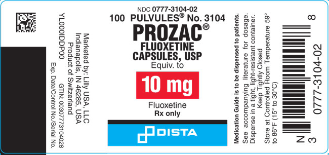 PACKAGE LABEL- Prozac 10 mg, bottle of 100