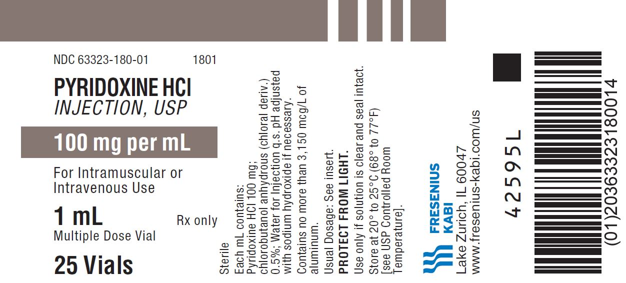 PACKAGE LABEL - PRINCIPAL DISPLAY - Pyridoxine HCl 1 mL Multiple Dose Vial Tray Label