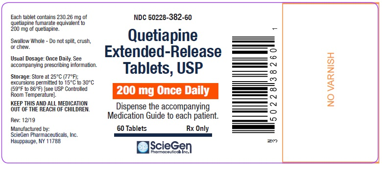 Quetiapine Fumarate 200 mg 60 Count Label