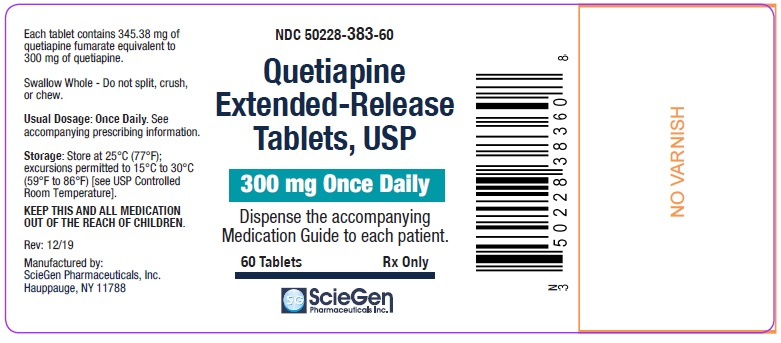 Quetiapine Fumarate 300 mg 60 Count Label
