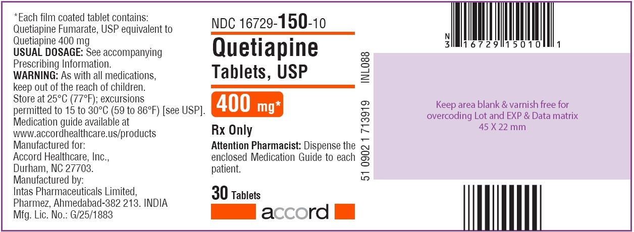 Quetiapine Tablets 400 mg