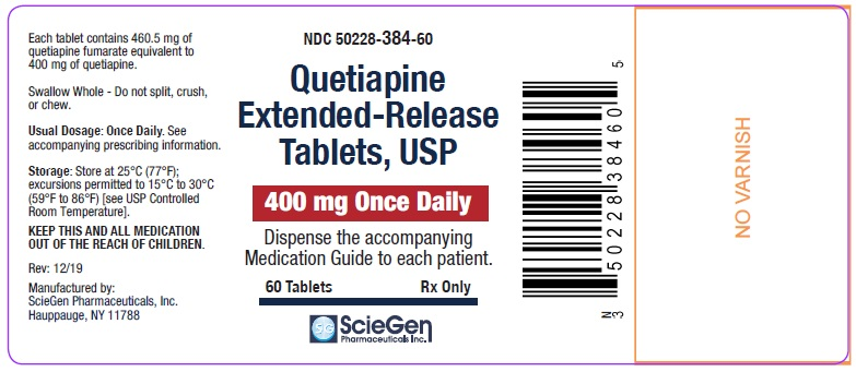 Quetiapine Fumarate 400 mg 60 Count Label