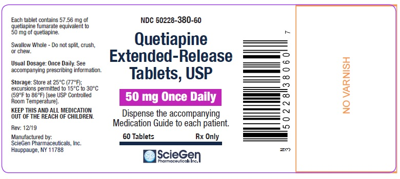 Quetiapine Fumarate 50 mg 30 Count  Bottle Label