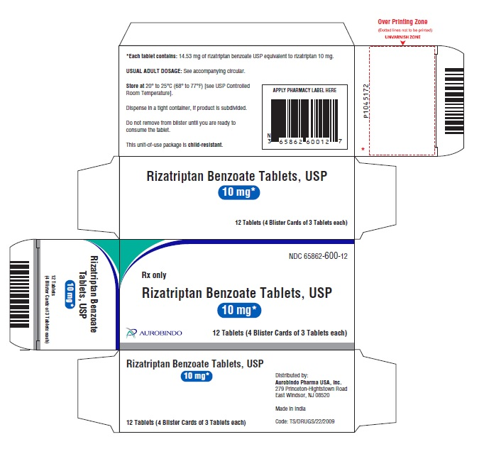 PACKAGE LABEL-PRINCIPAL DISPLAY PANEL - 10 mg Unit-of-Use Pack (12 Tablets)