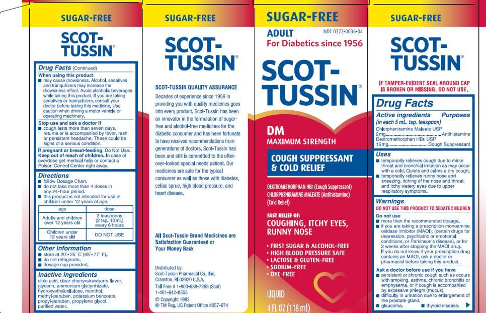 Scot Tussin Dm Sf Maximum Strength Cough Cold
