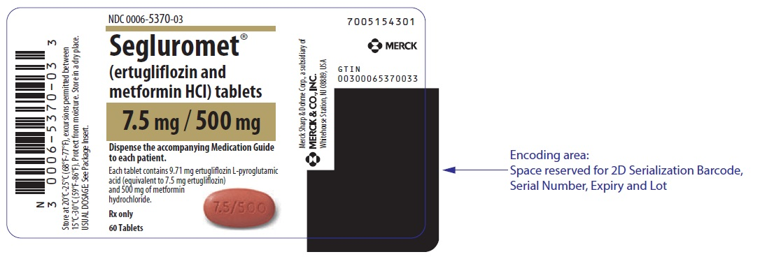 PRINCIPAL DISPLAY PANEL - 7.5 mg/500 mg Tablet Bottle Label