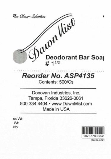 Is Dawnmist Deodorant Bar No. 1 1/2 | Triclosan Soap safe while breastfeeding