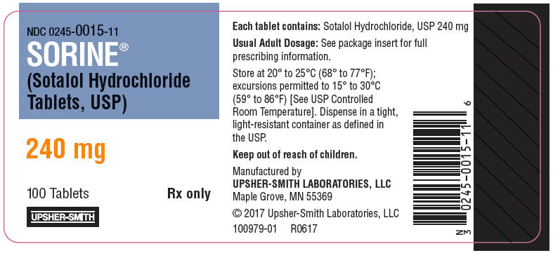 PRINCIPAL DISPLAY PANEL - 240 mg Tablet Bottle Label