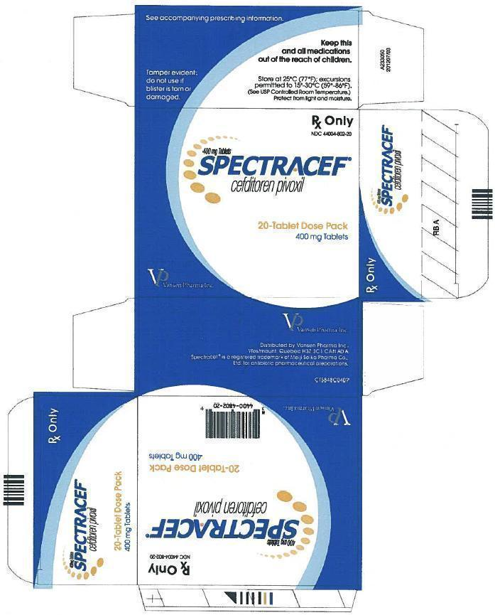 Spectracef 400mg- 20pack