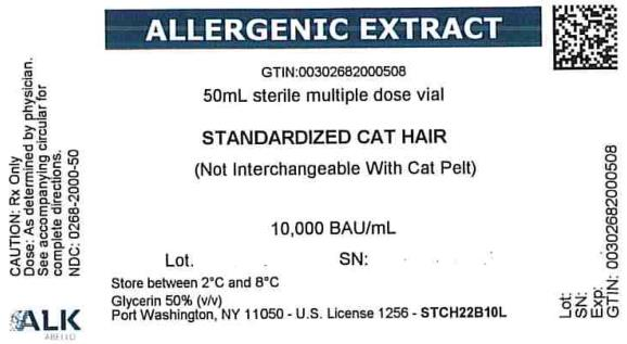 ALLERGENIC EXTRACT GTIN: 50mL sterile multiple dose vial STANDARDIZED CAT HAIR 10,000 BAU/mL