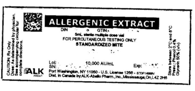 ALLERGENIC EXTRACT FOR PERCUTANEOUS TESTING ONLY STANDARDIZED MITE 10,000 AU/mL
