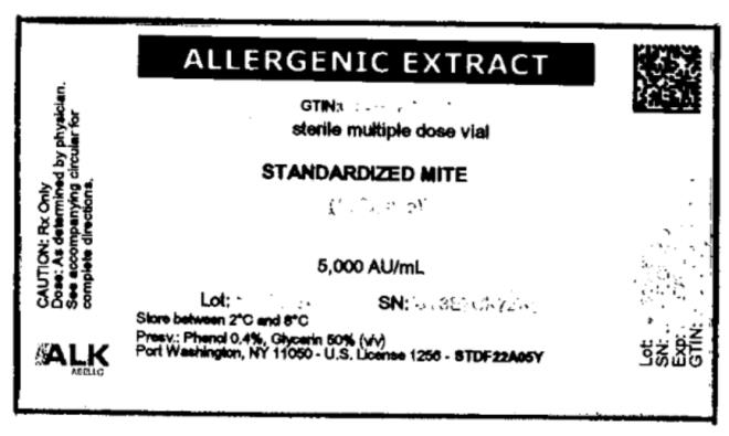 ALLERGENIC EXTRACT STANDARDIZED MITE 5,000 AU/mL
