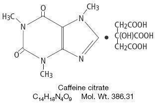 caffeine-citrate-structure