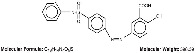 This is an image of the structural formula for sulfasalazine.