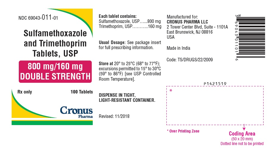 PACKAGE LABEL-PRINCIPAL DISPLAY PANEL - 800 mg/160 mg (100 Tablet Bottle)