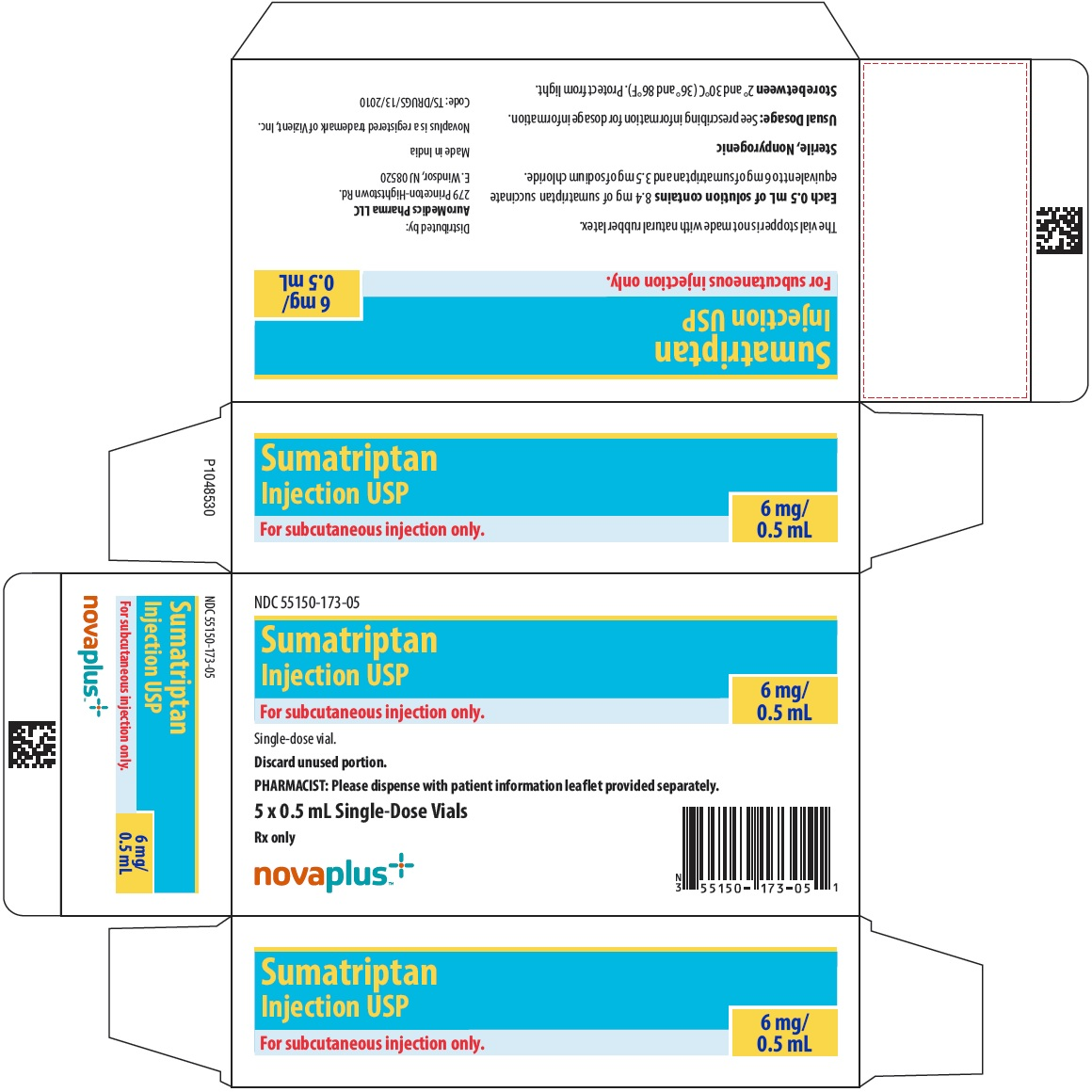 PACKAGE LABEL-PRINCIPAL DISPLAY PANEL - 6 mg/0.5 mL - Container-Carton (5 Vials)