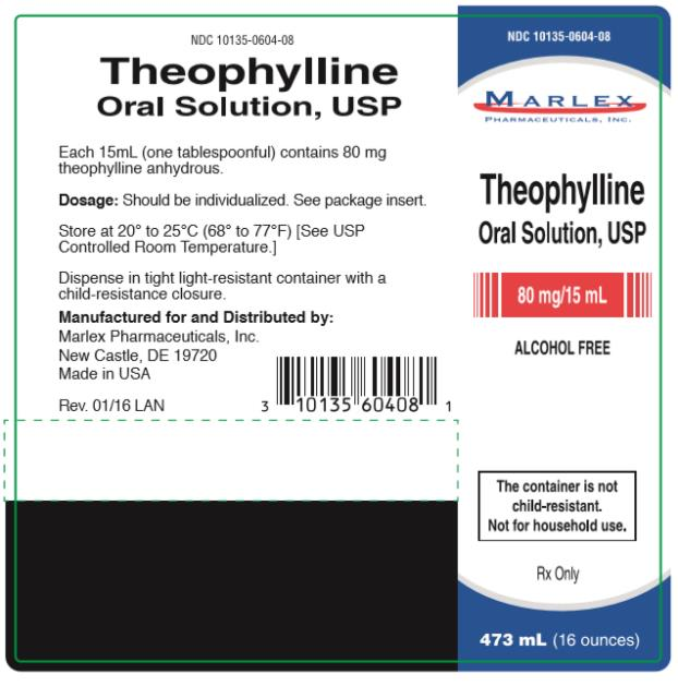 NDC 10135-0604-08 Theophylline Oral Solution, USP 80 mg/ 15 mL