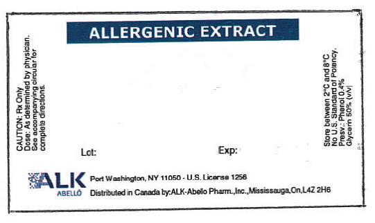 Allergenic Extracts Lot:	Exp: ALK ABELLO