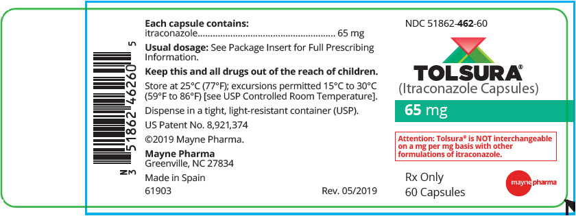 PRINCIPAL DISPLAY PANEL - 65 mg Capsule Bottle Label