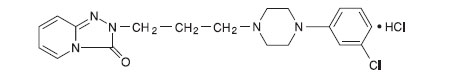 This is the structural formula for Trazodone Hydrochloride.