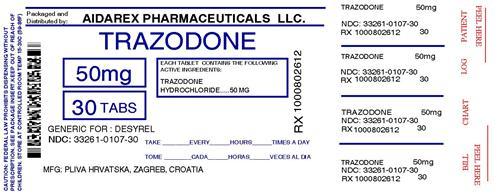 Trazodone Hydrochloride Trazodone Hydrochloride 1 Meq Breastfeeding
