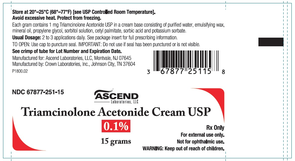 Triamcinolone Acetonide Cream USP 0.1% 15 gm tube