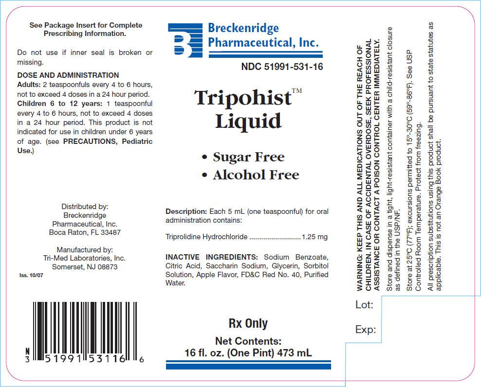 Is Tripohist   Triprolidine Hydrochloride Liquid safe while breastfeeding