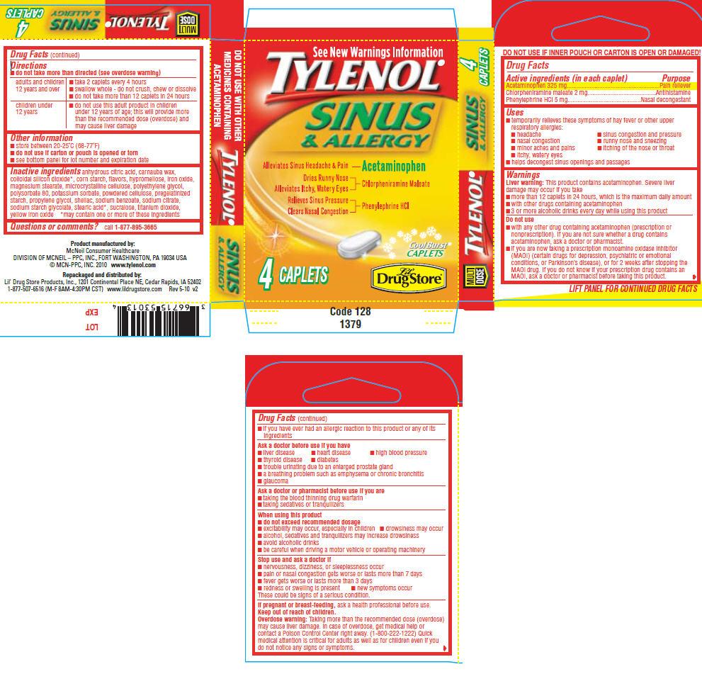 Tylenol Allergy Multi-symptom | Acetaminophen 0.13 G, Chlorpheniramine Maleate 0.13 G, Phenylephrine Hydrochloride 0.13 G Breastfeeding