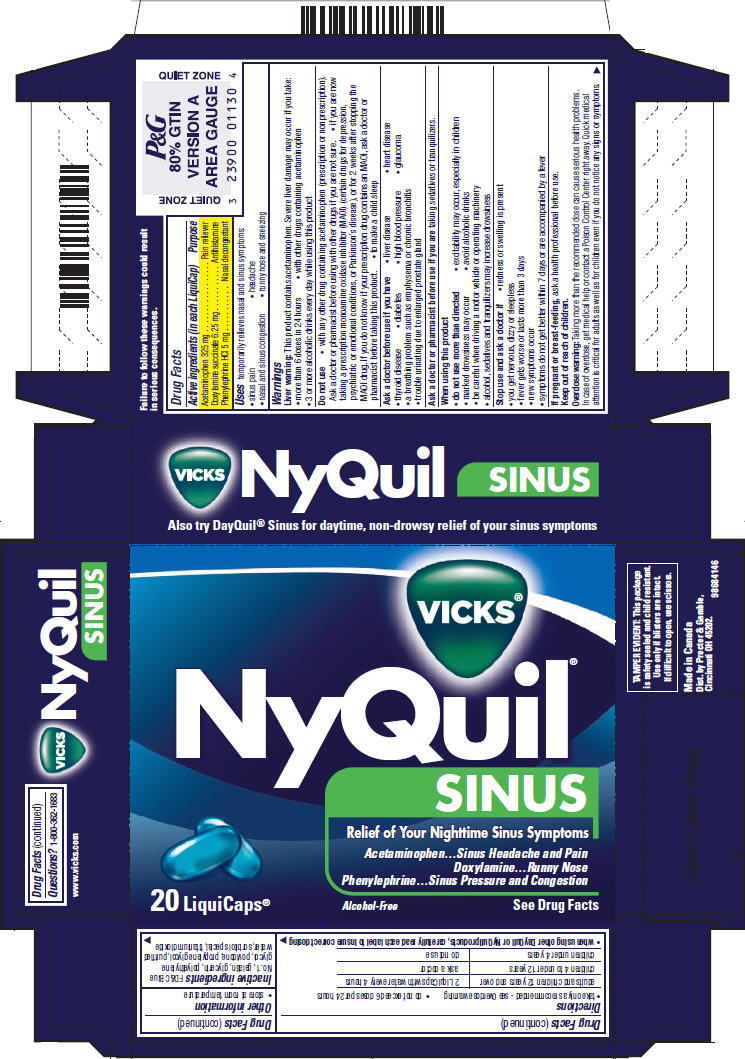 Vicks Nyquil Sinus   Acetaminophen, Doxylamine Succinate, And Phenylephrine Hydrochloride Capsule while Breastfeeding