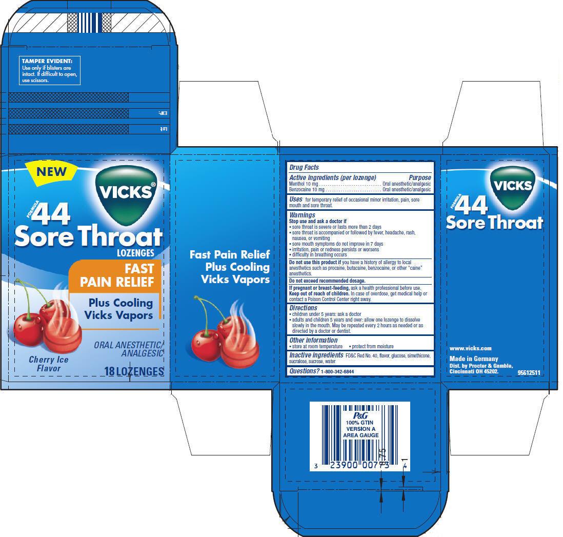 Vicks Formula 44 Sore Throat   Menthol 0.5 Mg, Benzocaine 0.5 Mg Breastfeeding