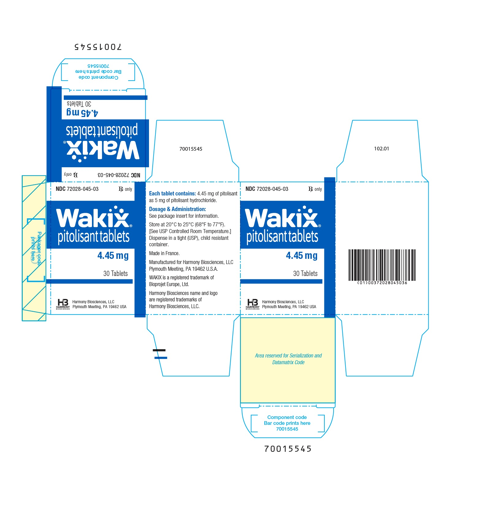 4.45 mg Carton Label