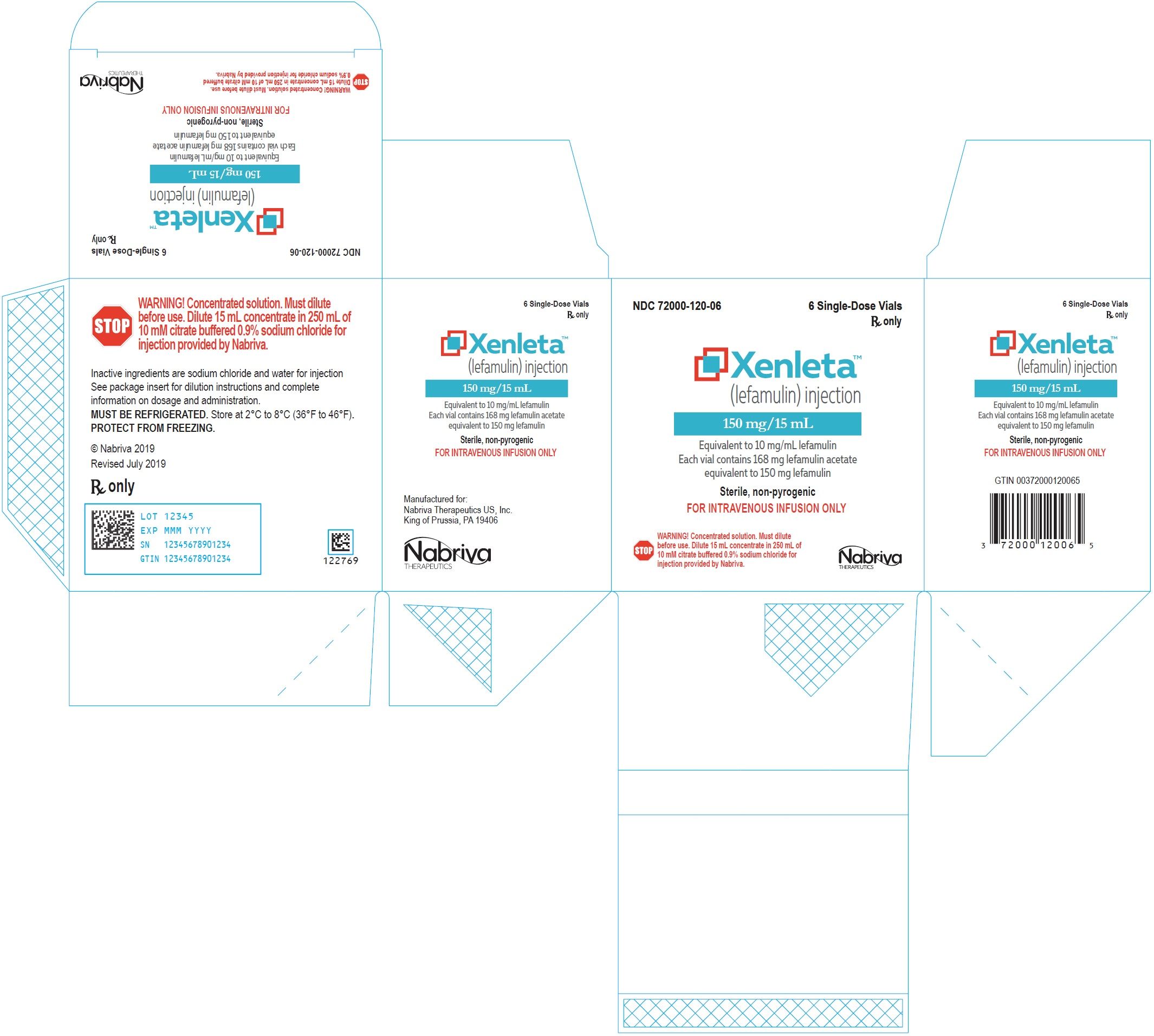 '.Rx Item-XENLETA- Diluent only  250ml by .'