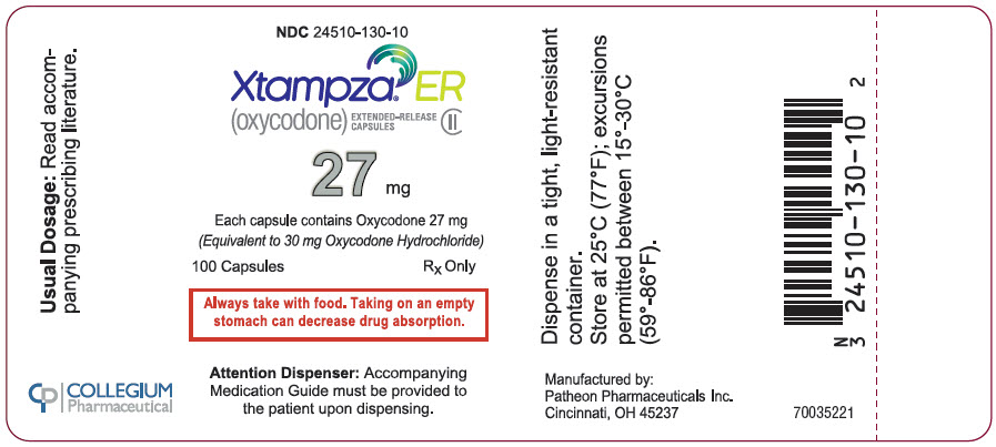 PRINCIPAL DISPLAY PANEL - 27 mg Capsule Bottle Label