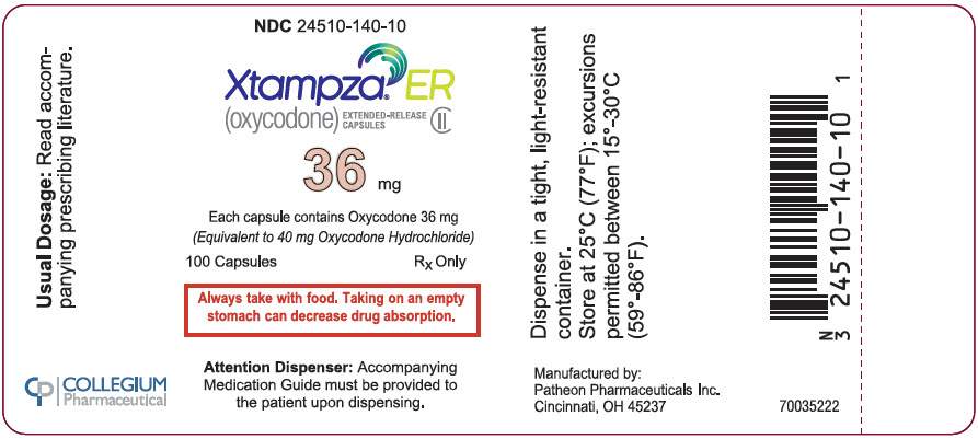 PRINCIPAL DISPLAY PANEL - 36 mg Capsule Bottle Label