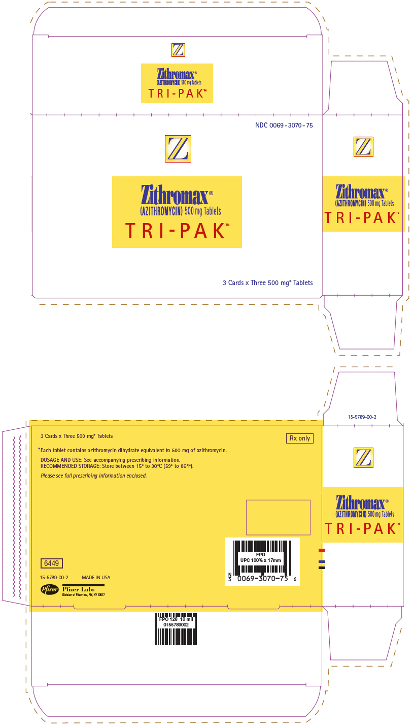 Principal Display Panel - 500 mg - 3 ct. Tablet Blister Carton