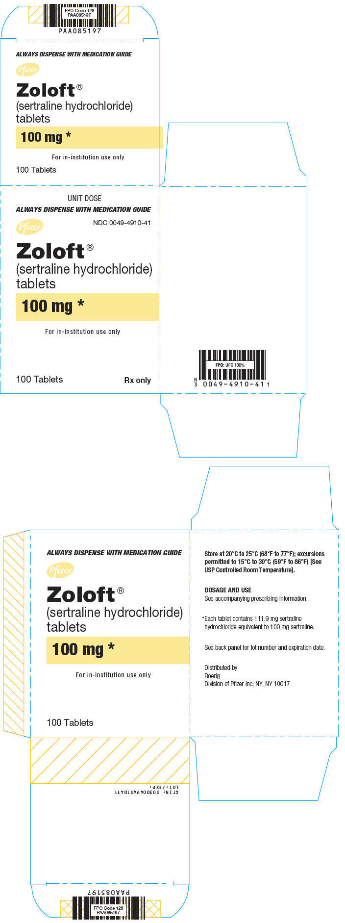 PRINCIPAL DISPLAY PANEL - 100 mg Tablet Blister Pack Carton