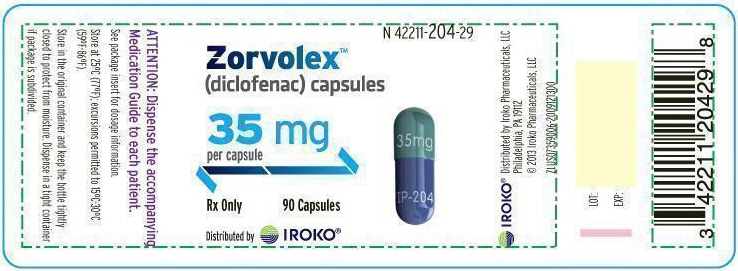 PRINCIPAL DISPLAY PANEL - 35 mg Capsule Bottle Label