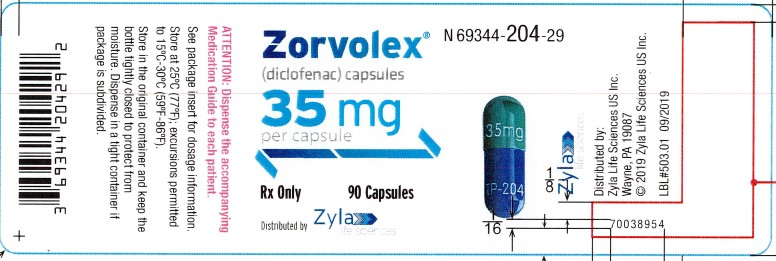 35 mg 90-count Bottle Label