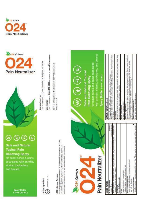 O24 Pain Neutralizer Information Side Effects Warnings