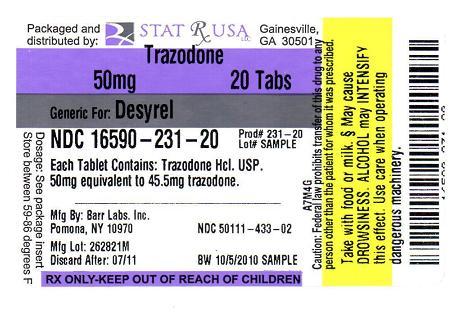 Trazodone Hydrochloride 150 MG Oral Tablet - Pill
