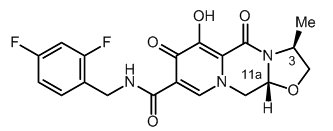 Cabotegravir chemical structure