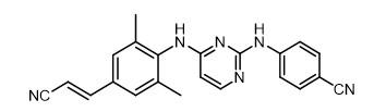 Rilpivirine chemical structure