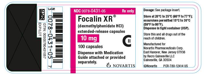 PhactMI FOCALIN XR (dexmethylphenidate hydrochloride)
