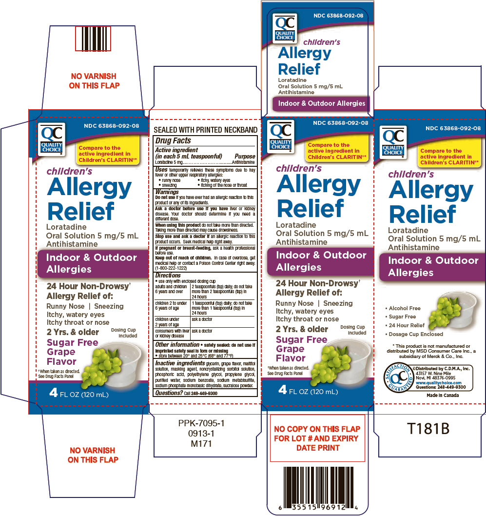 Quality Choice Childrens Allergy Relief Information, Side Effects