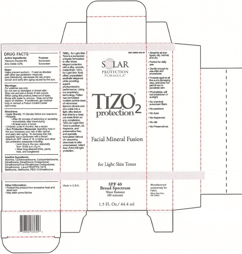 Solar Protection Formula Tizo2 Light Skin Formula Sunscreen