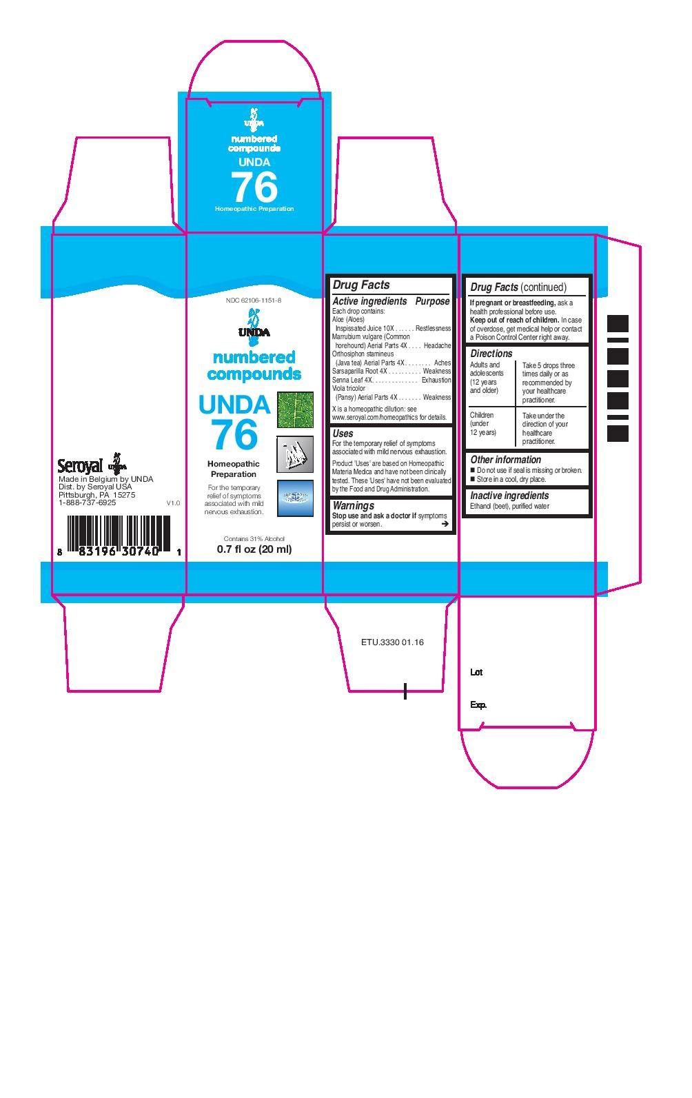 DailyMed - UNDA 76- aloe, marrubium vulgare, orthosiphon