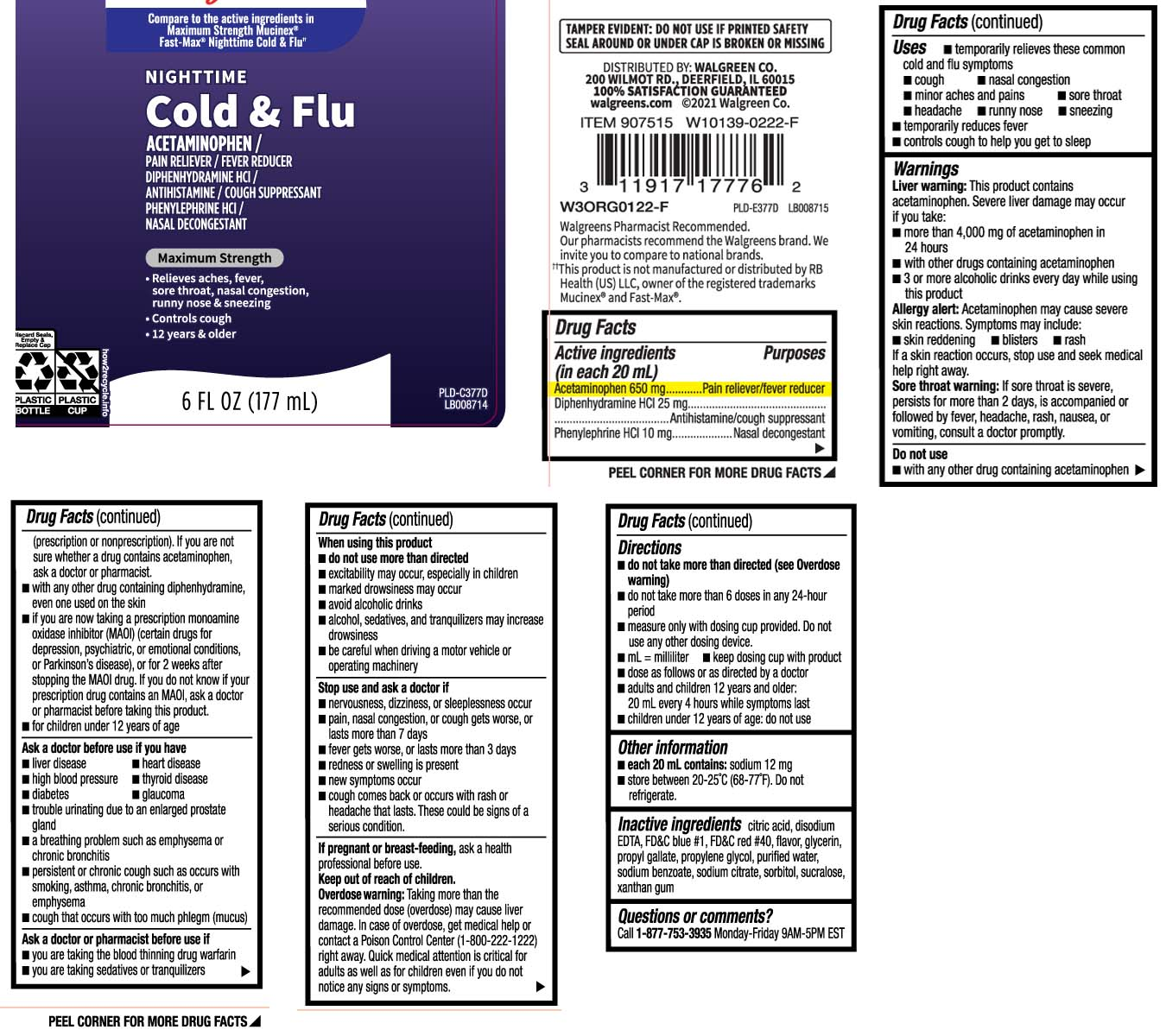 Nighttime Cold And Flu Maximum Strength Information, Side