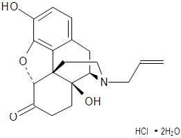 Chemical Structure - Naloxone Hydrochloride Dihydrate